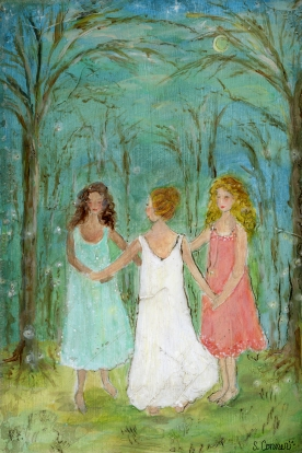 three graces in night gowns